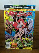 Red Sonja Lot Of 11 Comics Marvel 1975-77 Marvel Feature 1-7 Rs 1-4 Thorne