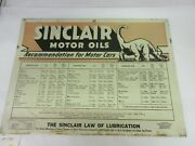 Vintage Advertising 1936 Sinclair Motor Oil Double Sided Tin Sign M-599