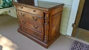 Carved Wood Two Drawer Hekman File Cabinet