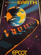 Disney Epcot Spaceship Earth Limited Edition Serigraph Poster Sold Out 4/100