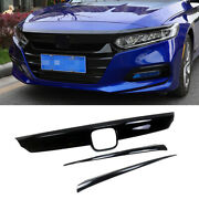 For 2018 2019 2020 Honda Accord Front Grill Molding Trim + Eyelid Cover Painted