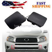 2 X Front Left And Right Bumper Tow Hook Cover Cap For Toyota Rav4 2006-2008