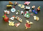 Cat Lovers Lot Of 25 Vintage Cat Christmas Ornaments
