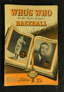 1952 Whoand039s Who In The Major Leagues Baseball Book