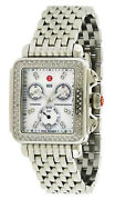 New Michele Deco Silver Mother Of Pearl Diamond Womens Watch Mww06p000099