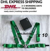 Takata Green 4 Point Snap-on 3 With Camlock Racing Seat Belt Harness X 10