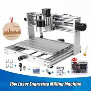 15w Laser Engraving Milling Machine 3 Axis Pcb 200w Spindlewith Er11 Diy Woods