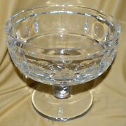 Antique Early 20th Century Sevres France Heavy Clear Crystal Compote Fruit Bowl