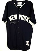 Andruw Jones New York Yankees Auto Signed Game Issued Mlb Bp Jersey Player Loa