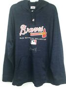 Andruw Jones Atlanta Braves Auto Signed Game Used Worn Hooded Pullover His Loa