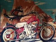 Ghost Rider Tapestry With Matching Centerfold By David Mann