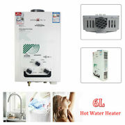 Portable 12000w 6l Propane Gas Lpg Tankless Hot Water Heater Outdoor Camp Shower
