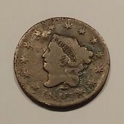 1817 Us Coronet Head Large Cent One Penny Coin - C8750