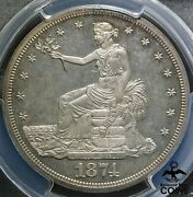 1874 United States Proof Trade Dollar 90 Silver Coin Pcgs Pr63 Cam Choice