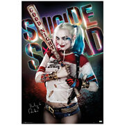 Margot Robbie Autographed Suicide Squad Harley Quinn 22×34 Poster