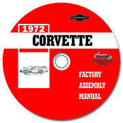 1972 Corvette Assembly Manual On Cd Factory Exploded Views Of Parts Chevrolet