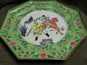 19th Century Famille Rose Chinese Export Victorian Canton Enamel Octagon Plate