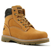 Texas Steer Menand039s Judd Work Boots Soft Toe Tan Nubuck Leather Model 00094 Ee