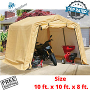 Portable Garage Storage Shelter Motorcycle Shed Outdoor Tent Cover 10 Ft X 10 Ft