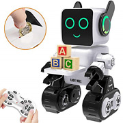 Robots For Kids, Remote Control Robot Toy Intelligent Interactive Robot Led Coin