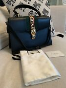 Authentic Sylvie Leather Top Handle Bag