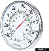 8 Inch Extra Large Dial Thermometer High Precision Indoor Outdoor Alloy Wall