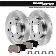 Rear Rotors Ceramic Pads For 2008 - 2013 Town And Country Grand Caravan Journey