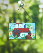 Stained Glass Themed Window Sun Catcher - Tractor
