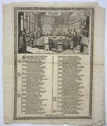 1645 Broadside On Table Manners Gastronomy - Andldquotischzuchtandrdquo Extremely Rare