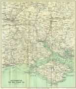 Southampton Environs Isle Of Wight New Forest Bournemouth Winchester 1930 Map