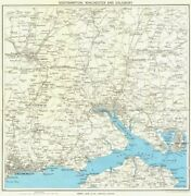 Hampshire Southampton Winchester Salisbury Bournemouth New Forest 1963 Old Map
