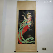 China Zhang Daqian Hand Painted Flying Fairy Picture Scroll