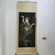 Collection China Zhang Daqian Hand Painted Flying Dancing Girl Picture Scroll