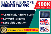 100000 Targeted Web Traffic Facebook, Instag Google Analytic