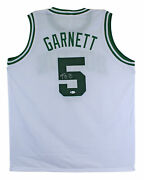Kevin Garnett Authentic Signed White Pro Style Jersey Autographed Bas Witnessed