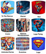 Superman Lampshades Ideal To Match Superman Wallpaper And Superman Posters