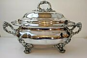 Antique Old Sheffield Plate Osp Large Lidded Soup Tureen Circa 1820 Crested