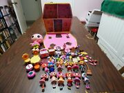Lalaloopsy House Carrying Case Storage W/ 9 3 Mini Dolls And Accessories Playset