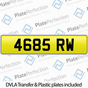 4685 Rw Ron Ross Ryan Rich Rob Russ Cherished Private Number Plate Dvla Reg