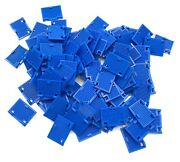 Lego 100 New Blue Windows 1 X 2 X 3 Shutter With Hinges And Handle Pieces