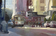 Ken Auster Limited Edition Canvas Other Side Of The Tracks Streetcar