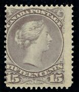 1868 Canada Sg61a 15c Pale Red-purple Very Fine Fresh Mounted Mint Cat. Andpound650.00