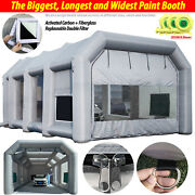 Biggest Giant 39x20x13ft Inflatable Spay Paint Booth 3x950w Blowers Watch Movie