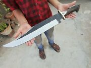 New Custom Made Carbon Steel 25 Long Rambo Bowie Knife With Stag Horn Handle