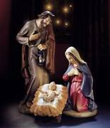 Outdoor Nativity Set Holy Family 32 Inch Indoor Outdoor Resin Colored