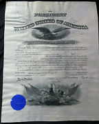 Theodore Roosevelt William H Taft Signed 1904 Military Commission Document Bas