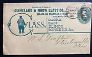 1890 Cleveland Oh Usa Advertising Stationery Cover To Steubenville Window Glass