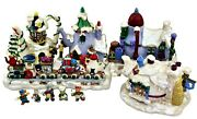 Sears Teapot Village Christmas Magic With Figures In Original Box No Lights
