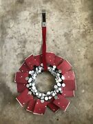 Extremely Rare Starbucks 2007 Red W/mirror Decor Holiday Wreath Store Display