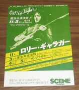 0 Ship Rory Gallagher Japan Promo 1977 Concert Flyer Not Tour Book Mini Poster
